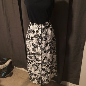Vintage Hawaiian Midi Skirt